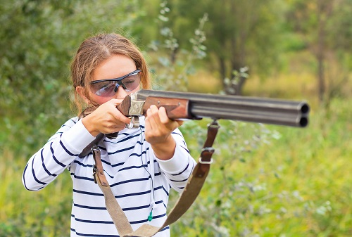 BranHill Plantation Blog Young Lady Trap Shooting